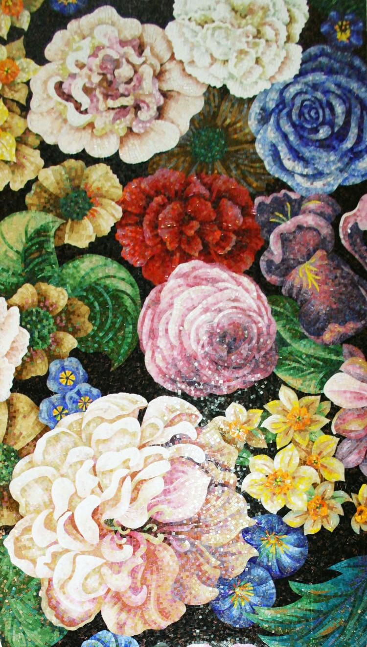 Цветы из мозаики