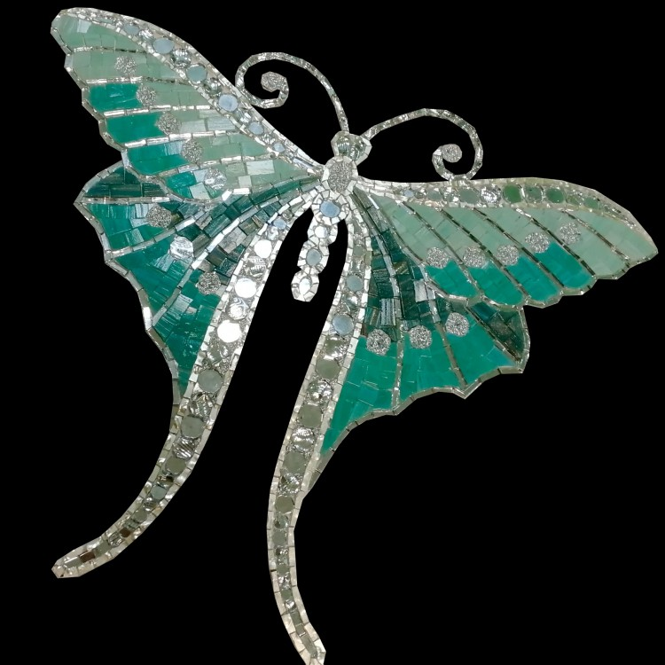 BUTTERFLY ART DECO 01  45х38 cm